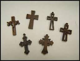 small wood crosses wholesale lot of 18 small wood crosses 6 styles to choose from
