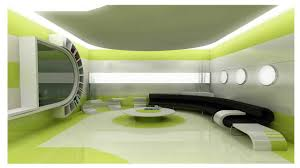 interior decoration appliances cool green and futuristic interior