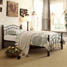 White Metal Bed Frame Queen Bedroom Wrought Iron Queen Bed Cast Iron Bed Metal Bed Rails