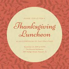 flyers for thanksgiving employee luncheon flyer www gooflyers