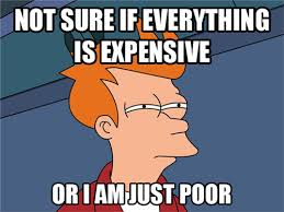Everything Meme - not sure if everything is expensive or i am just poor futurama