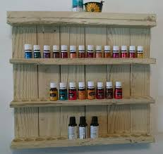 Barnwood Wall Shelves Essential Oil Shelf Wooden Essential Oil Display Shelf Essential