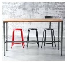 table haute de cuisine but table haute design industriel beautiful table mange debout but with