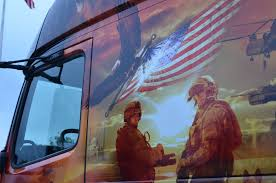 new volvo truck 2015 volvo salutes military with custom vnl 670 at memorial day run
