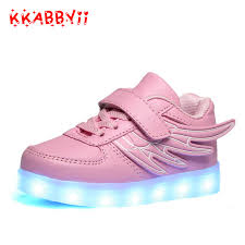 how to charge light up shoes click to buy kkabbyii wing luminous shoes kids usb charger shoes
