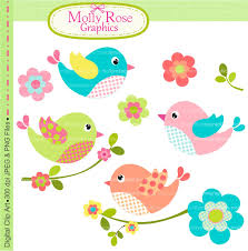 Invitation Cards Maker Clip Art Birds Clip Art Digital Clip Art Birds Flowers