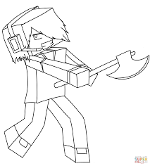 minecraft steve coloring pages printable skin eson