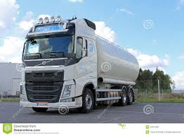 volvo truck group white volvo tank truck for food transport editorial photo image