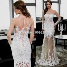 white lace long prom dress gowns and dress ideas