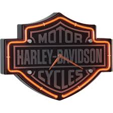 harley davidson lighted signs harley davidson bar shield etched neon clock www kotulas com