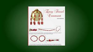 homemade christmas ornaments free ornament pattern youtube