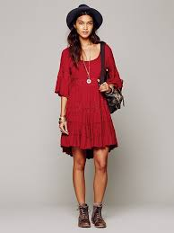 free people daisy lace dress in red lyst