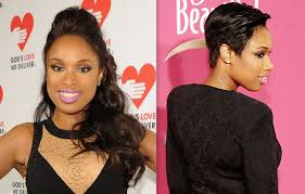 hair styliest eve jennifer hudson chops off her long hair into a short pixie cut