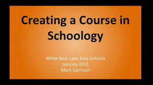 creating a course in schoology youtube