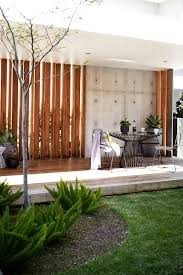 vertical screen deck contemporary with container garden brown deck