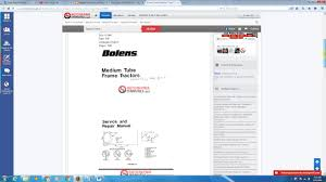 bolens tractor medium tube frame service u0026 repair manual youtube