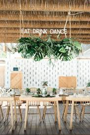 ultimate tropical wedding decor palm leaves brides