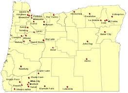 oregon map of cities my