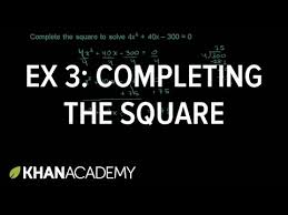 worked example completing the square leading coefficient 1
