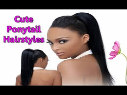 hair pony tail for african hair cute black ponytail hairstyles for african american natural