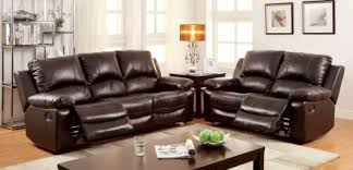 Top Grain Leather Living Room Set Furniture Of America Davenport Top Grain Leather Match Reclining