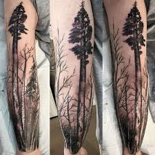 tree branches graveyard mens half sleeve tattoos artwork i like