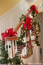 Christmas Banister Garland Debbie U0027s Christmas House Southern Hospitality