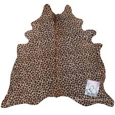 leopard print cowhide large rug cowhide rugs online