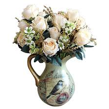 compare prices on beautiful white flower online shopping buy low beautiful charming delightful palace earl rose multi color artificial flowers artificial flowers wedding home decoration