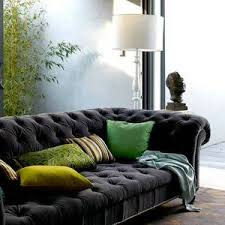 Chesterfield Velvet Sofa by Ours Was Velveteen Lightly Dotted From Conrans And First In The