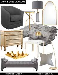 Gray And Gold Color Crushing Decorating With Gray And Gold For Glamour U2014 The