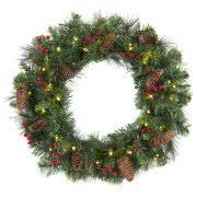 lighted christmas wreath battery lighted wreaths