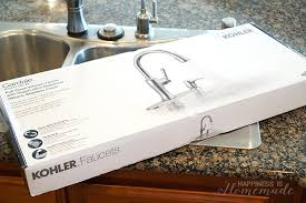how to install kohler kitchen faucet how to install a kitchen faucet happiness is
