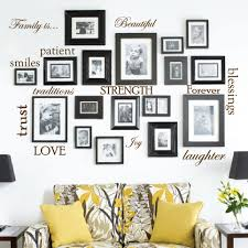set 12 family quote words vinyl wall sticker picture frame wall