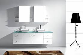 modern white bathroom vanities vanity and mirror stainless steel