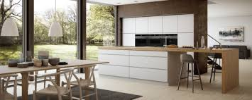 cuisine blanc laqué et bois cuisine blanche en bois idee peinture cuisine grise cuisine