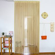 Glitter Window Curtains Shiny Tassel Glitter Curtains Chagne Line 1x2m Encryption