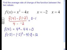 How To Find The Rate Of Change In A Table 2 4 Average Rate Of Change For A Quadratic Function