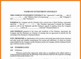 investment contract agreement how to wholesale filling out an