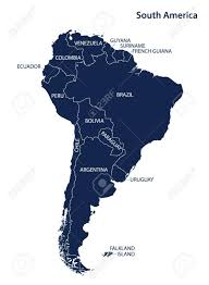 Columbia South America Map South America Map And Names Vector Royalty Free Cliparts