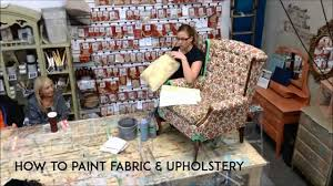 Painting Fabric Upholstery Painting Fabric With Chalk Paint By Annie Sloan Youtube