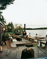superb chiminea in deck rustic with outdoor tiki bar next to deck