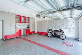 simple floor modern garage with simple granite floors by closet factory