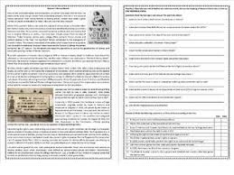 women u0027s history month the suffrage movement reading