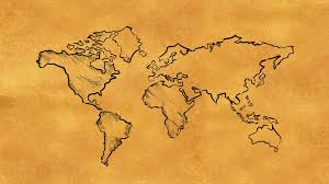 Old World Map World Map Sketch On Old Paper Looping Animation Motion Background
