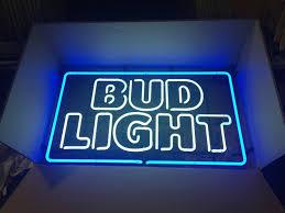 bud light neon light used bud light new logo neon in hesperia