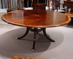 englishmans mid cherry yew wood banded 72 round table with starburst inlay flush lazy susan