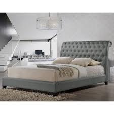 modern headboards jazmin tufted gray modern bed with upholstered headboard
