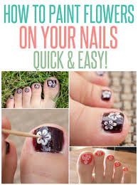 how to paint flowers on toes infarrantly creative