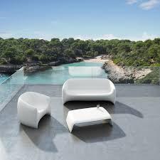 sofa outdoor garden lounge couch with matt polyethylene